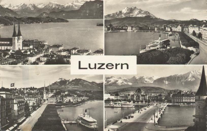 alte Postkarte Luzern