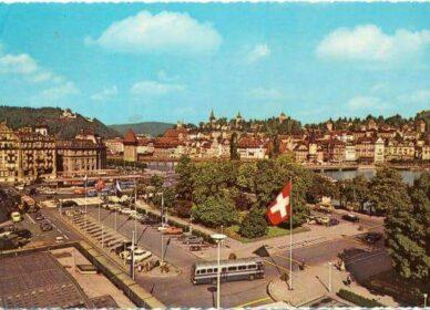 Luzerner Bahnhofsplatz in den 60ern