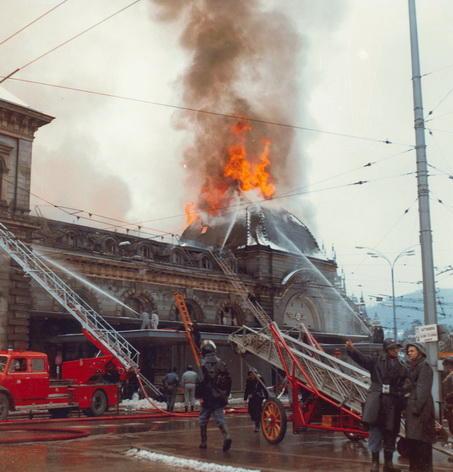 Brand Bahnhof Luzern