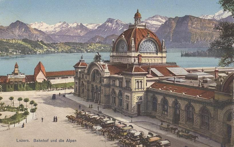 Postkarte Bahnhofsplatz Luzern